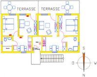 Wohnfläche: 34 m² Personen: 2 - Bild 5: Darssurlaub - Wassergrundstück mit Hund - eingezäunter Terrasse, Angeln