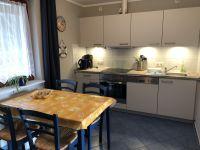 Küche mit GS, Herd (Ceranfeld, Backofen), Mikrowelle, Kühlschrank mit Gefrierfach, Kaffeemaschine, usw. - Bild 23: Darssurlaub - Wassergrundstück mit Hund - eingezäunter Terrasse, Angeln